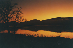 Sunset Loch Awe Scotland